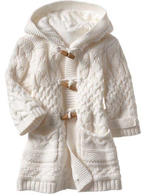 International Knitting Patterns, knit baby Aran coat pattern