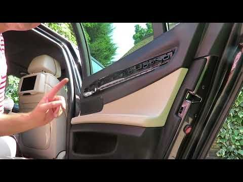 Bmw F01 F02 Rear Door Panel Removal With Shades All Models Youtube Panel Doors Bmw How To Remove