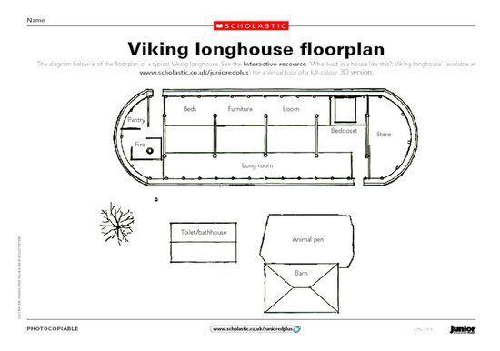 Viking Longhouse Floor Plan Vikings Viking House How To Plan