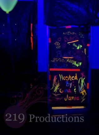 Blacklights and Fluorescent Paint with 219 Productions of Northwest Indiana: Neon Glow, Blacklight Party, 219 Productions, Black Lights, Glow Party, Fluorescent Paint, Northwest Indiana, Party Ideas, Party Plans