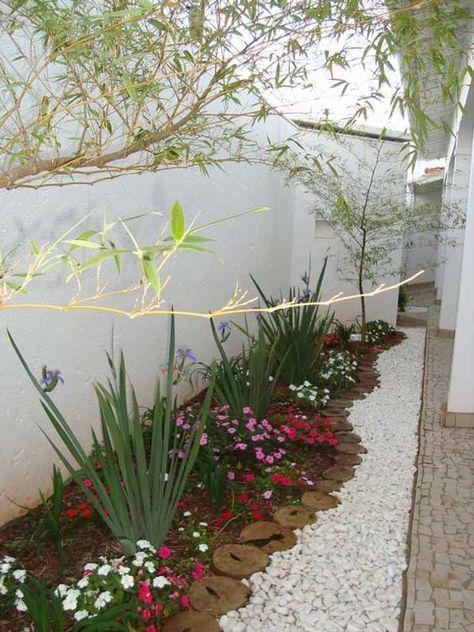 Ideas Decorativas De Grava Blanca Small Garden Design Front