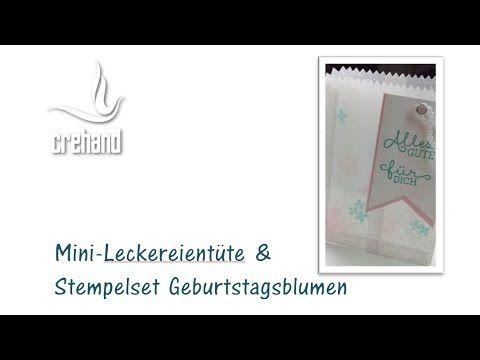 Mini-Leckereientüte für Geburtstagsgrüße mit Stampin' Up! - YouTube