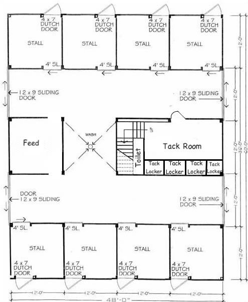 Barn layout layout and barns on pinterest for Horse barn layouts floor plans