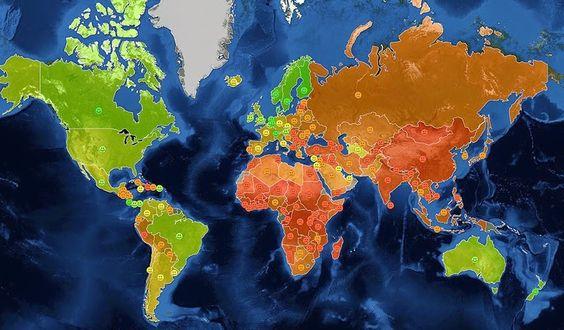17 incríveis e divertidos mapas que não te mostraram na escola
