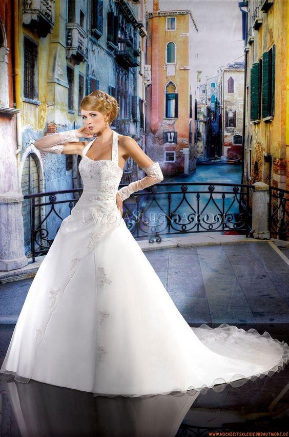Nackhalter Brautkleider für Prinzessin 2014 aus Organza