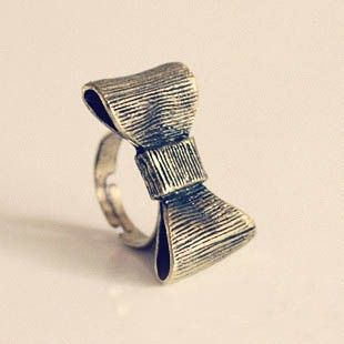 Fashion Bow Cocktail Ring at Online Jewelry Store Gofavor