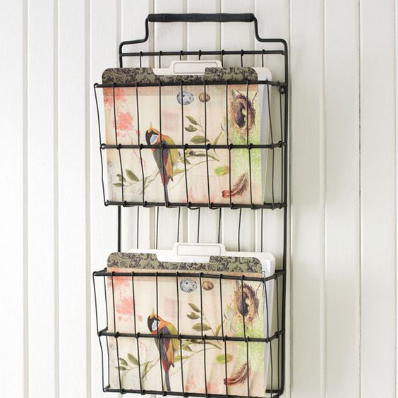 Wall Storage For Paper. I Want This. Bought A Metal File Bin. Not
