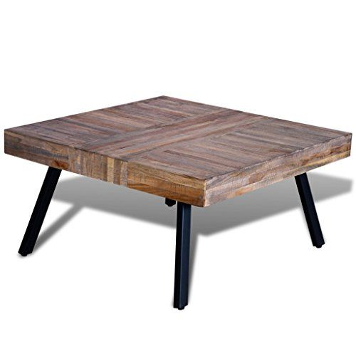 Festnight Solid Square Coffee Side Table Reclaimed Wood Https Www Amazon Com Dp B076z9mpsc Ref Cm Coffee Table Square Coffee Table Coffee Table Vintage