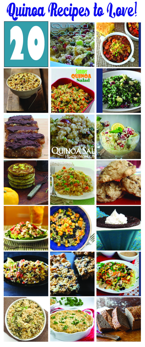 20 Quinoa Recipes to LOVE from some of my favorite food bloggers!  Pin this for a quick quinoa reference.  #quinoa#recipe #healthy HealthyMomsKitchen.com
