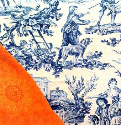 * Chic Provence *: Orange & Blue...Suddenly New!