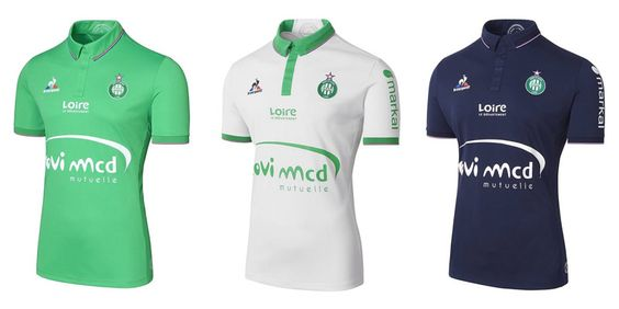 Camisas do Saint-Etienne 2016-2017 Le Coq Sportif