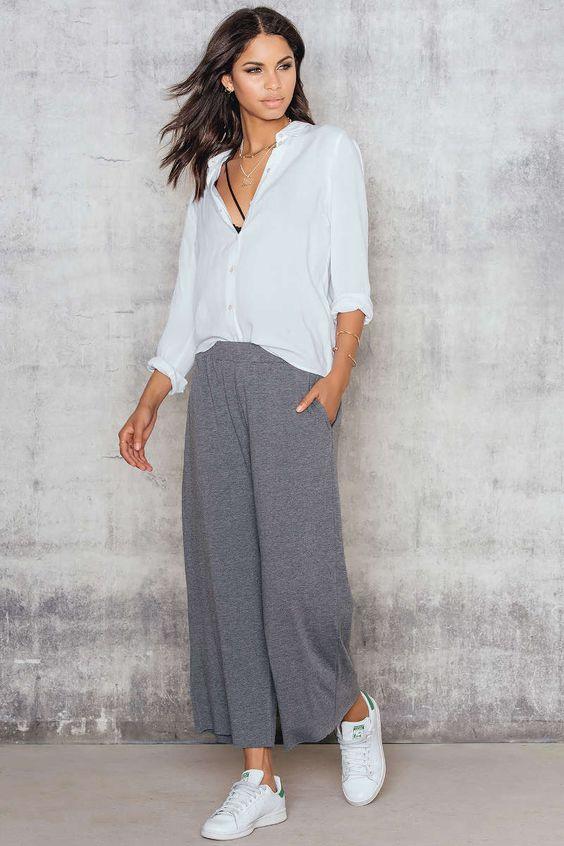 Jersey Culotte Pants