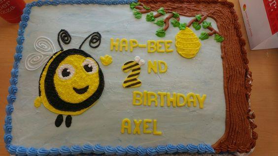 The Hive sheet cake