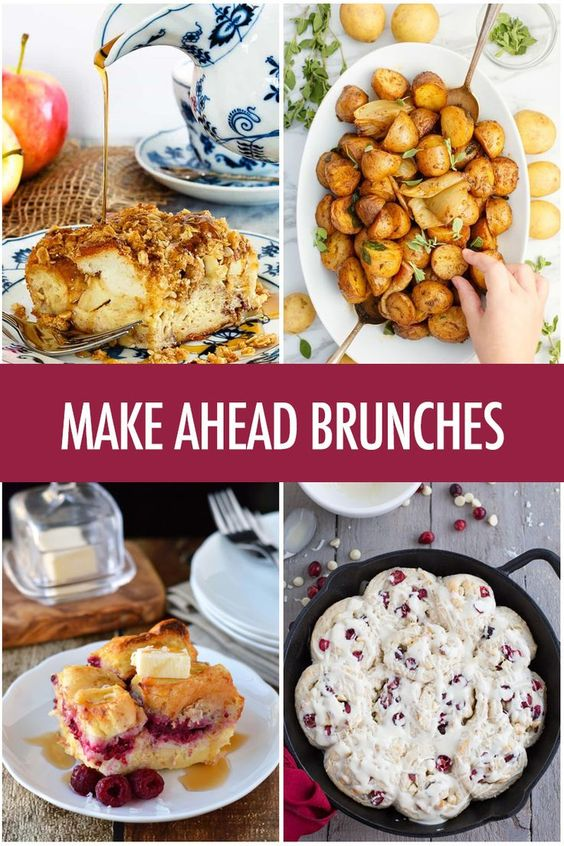 Make Ahead Brunch Recipes Ideas