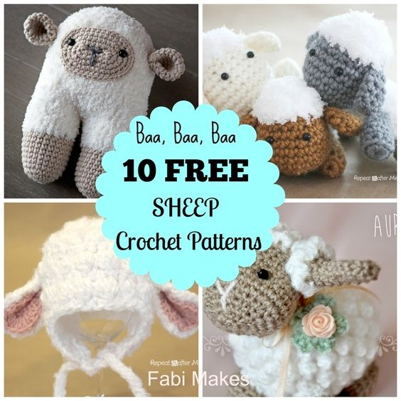 Sheep, Crochet sheep and Patterns on Pinterest