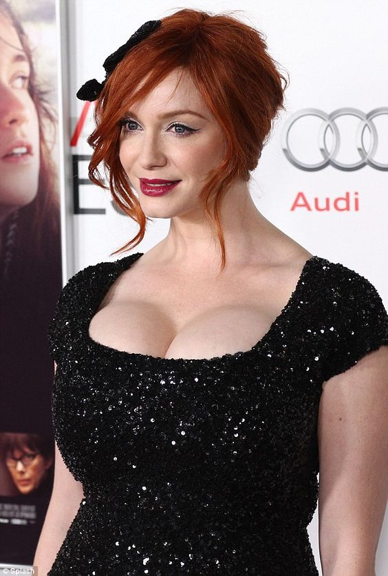 Christina Hendricks Highlights Her Curves In A Revealing
