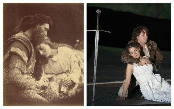 Lancelot et Guenièvre par Julia Margaret Cameron 1815 - 1879 / Sophie Koch et Roberto Alagna © Andrea Messana