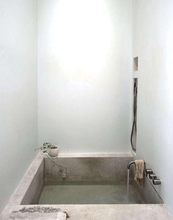 Concrete bathroom tub / Ritual Bath <3