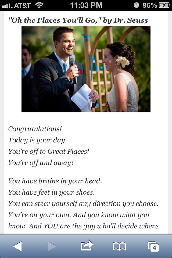 AwwDr Seuss Wedding Speech