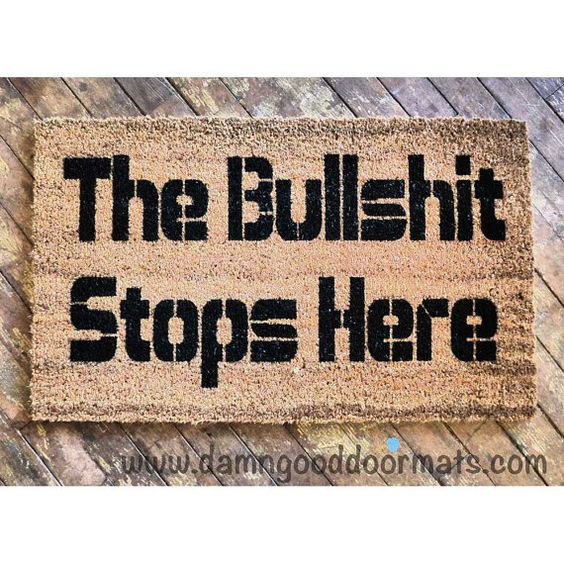 Pinterest the world s catalogue of ideas - Offensive doormats ...