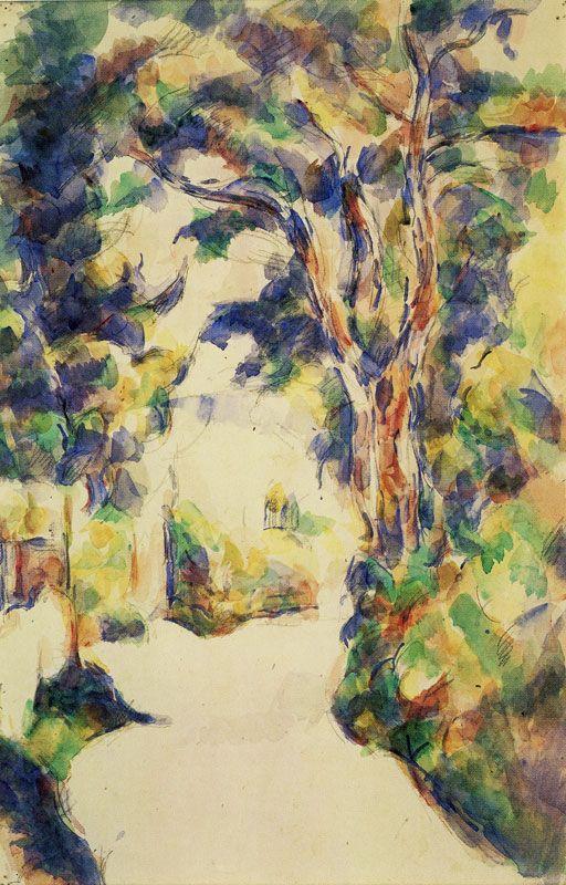 Paul Cezanne The Turn In The Road Paul Cezanne Famous Art Paintings Famous Art