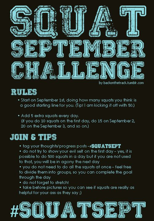 Squat September: Ima do this!!