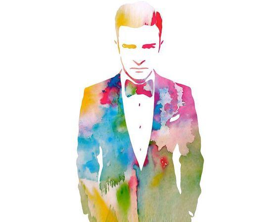 Justin Timberlake abstract artwork