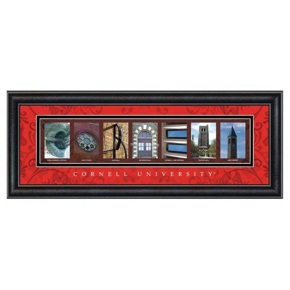 Framed Letter Wall Art - Cornell University - 20W x 8H in. - CLAL1B18CORN