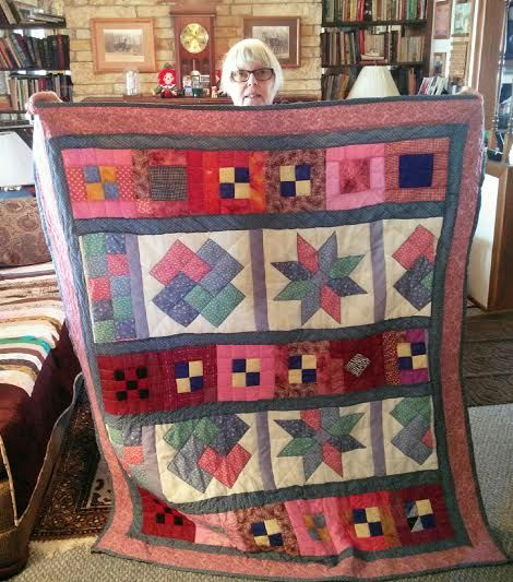 I made this quilt out of a hodge podge of blocks and remnants.