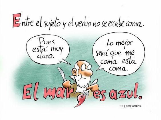 la #coma entre sujeto y verbo  @DonPardino
