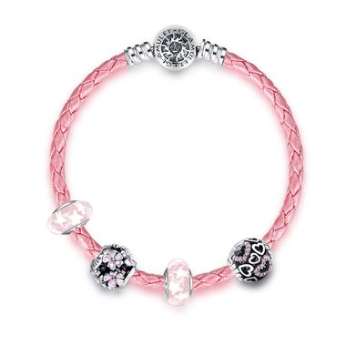 """Floral Love Pink Bracelet ❤ #Glamulet jewelry,fits all brands bracelet. Wonderful gifts for family, lover, friends...Get 5% off on www.glamulet.com with coupon code """"PIN5"""""""