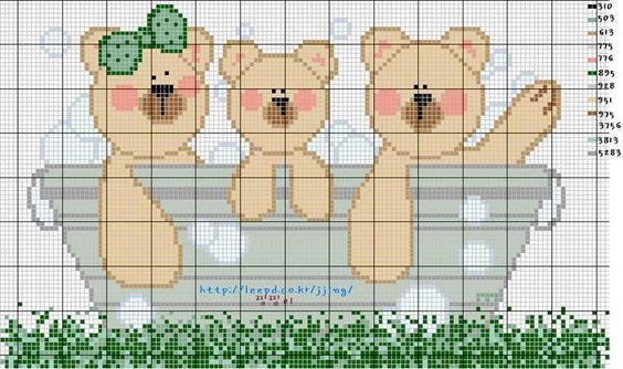 Bears in tub  Karilla e o Ponto Cruz: Gráficos