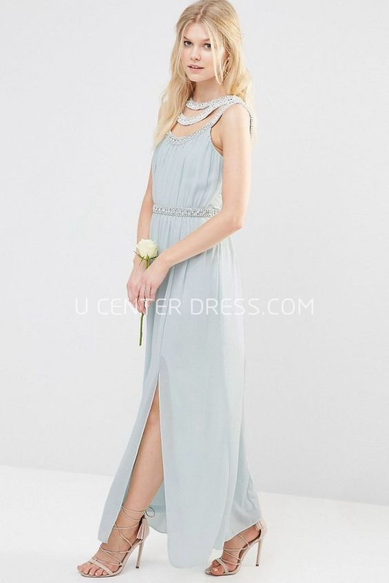 US$94.79-Elegant Beaded Sleeveless Scoop Neck Chiffon Wedding Guest Dress With Straps. http://www.ucenterdress.com/ankle-length-beaded-sleeveless-scoop-neck-chiffon-bridesmaid-dress-with-straps-pMK_100584.html. Shop for summer wedding guest dresses, fall wedding guest dress, wedding guest dress ideas, winter wedding guest dress, plus size wedding guest dress, formal wedding guest dress, beach wedding guest dress, black tie wedding guest dress, wedding guest dress with sleeves. wedding guest…
