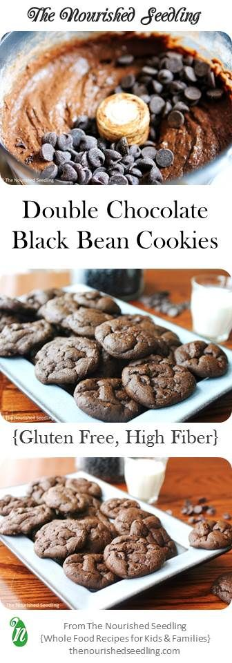 With high quality cocoa and a bit of chocolate chips, these cookies satisfy a chocolate craving. At the same time, they also have fiber, folate and iron from black beans as the base for these cookies.