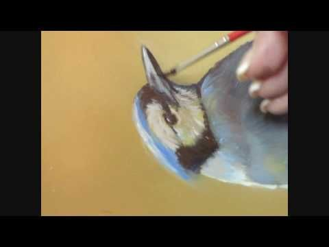 How to Paint a Realistic Blue Jay Bird in Oil