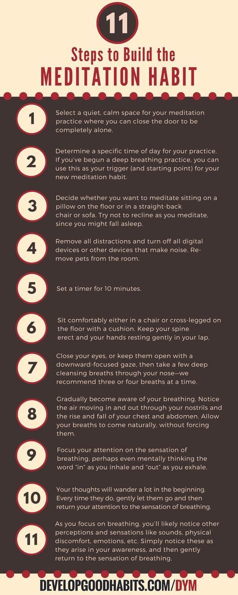 """11 steps to building a meditation habit -- Get rid of your mental clutter with """"declutter your mind"""""""