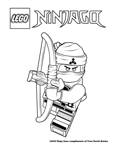 Coloring Page Ninja Zane True North Bricks Lego Coloring Pages Ninjago Coloring Pages Lego Movie Coloring Pages