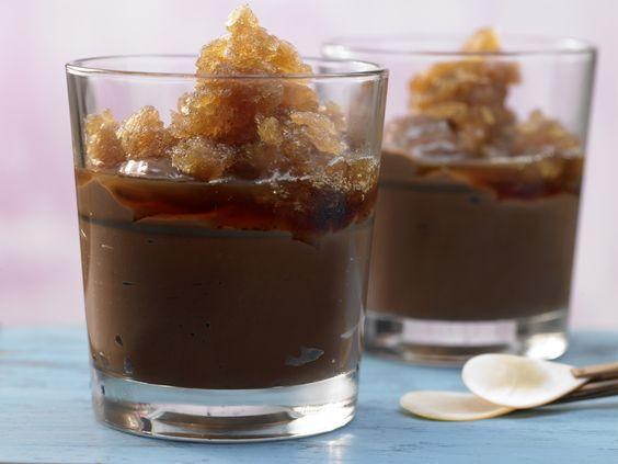 Kubanische Schokocreme mit Kaffeebohnen-Granita   Kalorien: 600 Kcal - Zeit: 1 Std.   http://eatsmarter.de/rezepte/kubanische-schokocreme