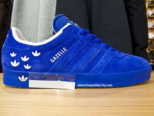 blue adidas gazelle 2