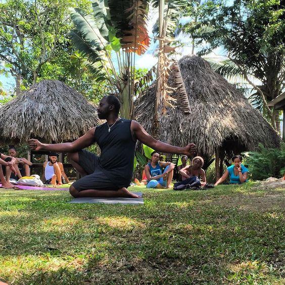 Master Kemetic Yoga instructor Yirser Ra Hotep demonstrating Pose of Immortality.  #KemeticYoga #poseofimmortality #healthyliving #holisticliving #Jamaica #retreat #Negril #yogaretreat #wellness #Yoga #Hotep