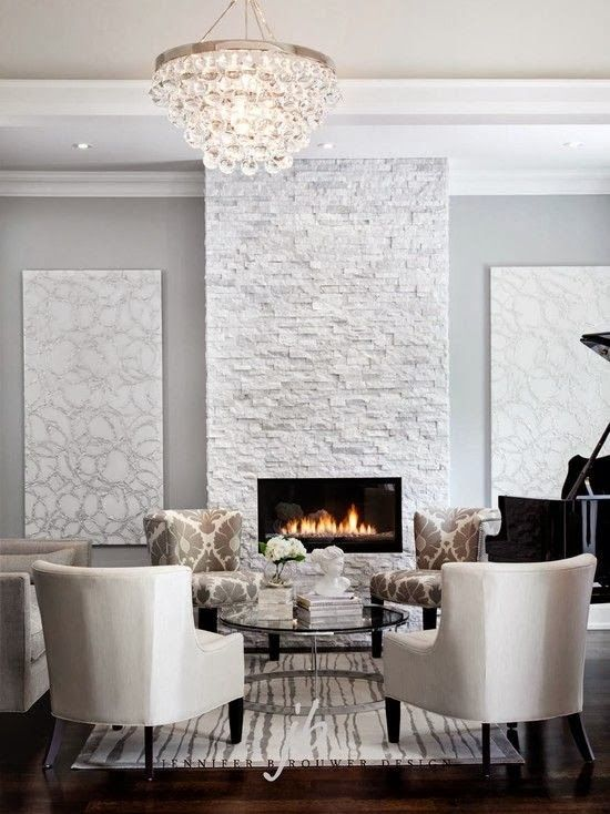 17+ Modern Fireplace Tile Ideas, Best Design | Sitting area, Bling and  Chandeliers