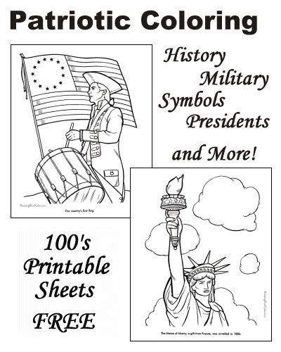 Patriotic Coloring Pages American History For Kids Us Flags Statue Of Liberty All Us Presidents An History For Kids Flag Coloring Pages History Worksheets