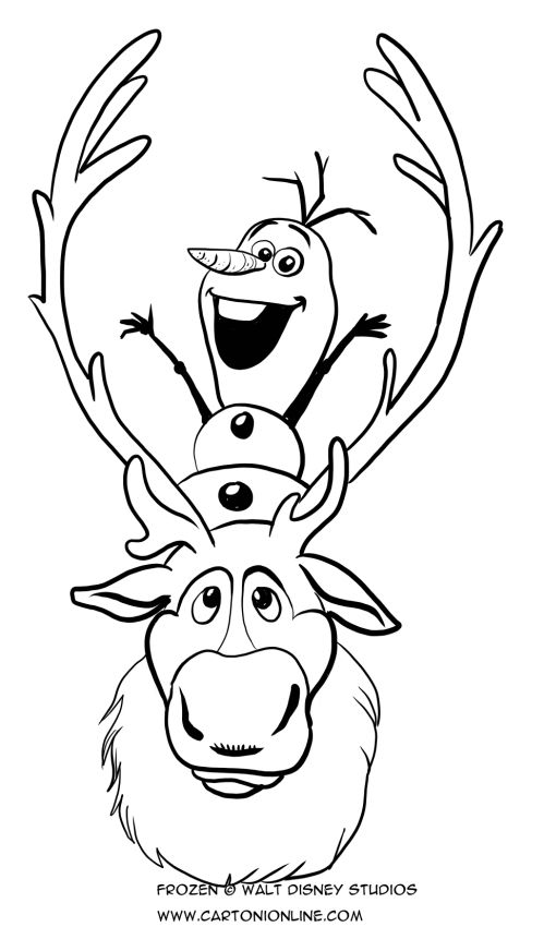 Sven And Olaf Coloring Pages Frozen Coloring Pages Coloring Pages Frozen Coloring