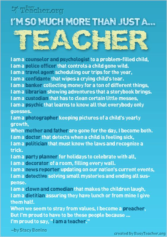 "Why my job is never boring, poster ""I'm So Much More Than Just A Teacher!"""