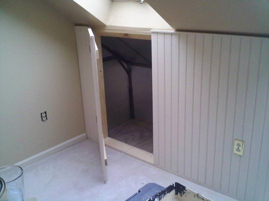 How To Save Space At Home By Installing Knee Wall Door Knee Wall Wall Storage Loft Spaces
