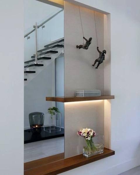 Top 40 Best Recessed Wall Niche Ideas Interior Nook Designs Modern Foyer Residential Interior Design Foyer Design