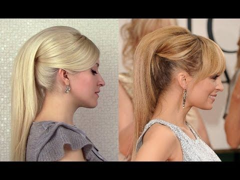Chic high ponytail inspired by Nicole Richie at Golden Globes 2012