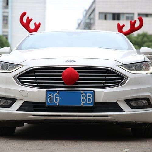 Christmas Car Decoration Big Antlers -