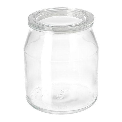 365 Jar With Lid Glass 3 3 L Flour Storage Container Kitchen