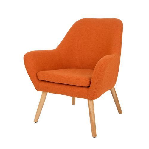 Mid Century Modern Accent Chairs, Modern Orange Accent Chair